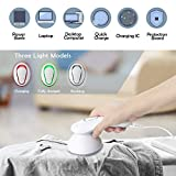 COOLKESI Upgrade Rechargeable Lint Remover & Fabric Shaver, 3-Leaf Stainless Steel Blades Lint Shaver Defuzzer Pill Fuzz Remover for Clothes, Dryer, Couch, Blanket, Sweater, Furniture