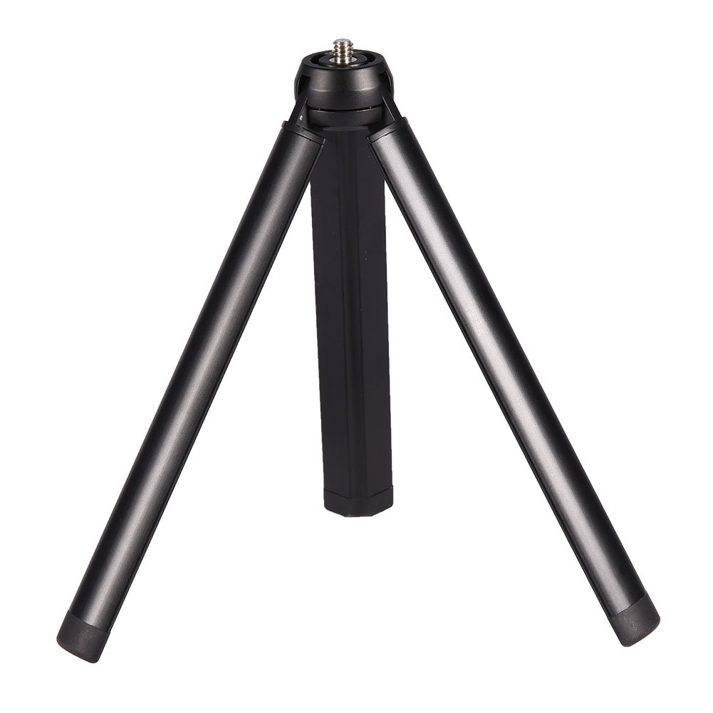 Acouto Table Tripod, Camera Tripod Mini Compact Tripod Laptop Lightweight Tripod Stand Tripod Anti-Slip Trip Aluminum Alloy for Camera & DJI OSMO Palo Selfie
