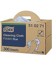 Tork 510271 Paño de limpieza Premium / 1 capa/Paños multiuso compatibles con el sistema W7 / 1 caja x 300 paños/color azul