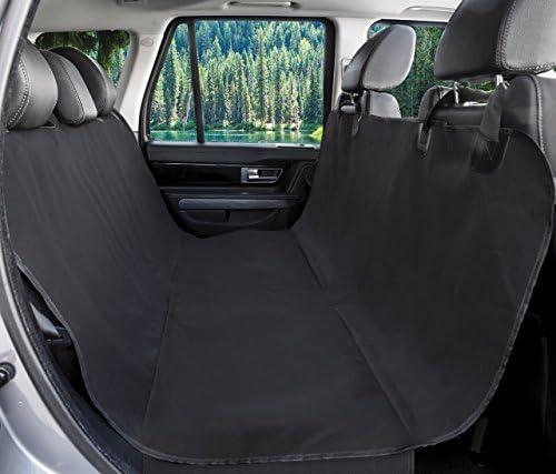 BarksBar Original Pet Seat Cover for Cars – Black, Waterproof Hammock Convertible