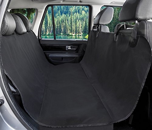 BarksBar Original Pet Seat Cover for Cars - Black, WaterProof & Hammock Convertible (Standard, Black) Other Standard Car Covers