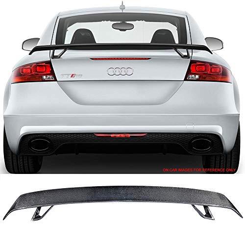 (Trunk Spoiler Fits 08-19 Audi TT MK2 8J MK3 FV 8S | RS Carbon Fiber CF Rear Wing Lip Tail Roof Trim Deck Lid By IKON MOTORSPORTS)
