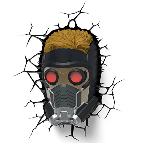 Price comparison product image 3DLightFX Marvel Guardians of The Galaxy Star Lord 3D Deco Light