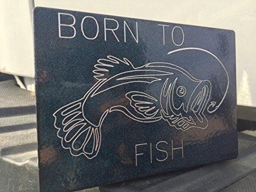 Born to Fish Trailer Hitch Cover -