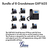 Grandstream GXP1625, 2 SIP acct., SMB IP Phone, Multi-language PoE Bundle of 8