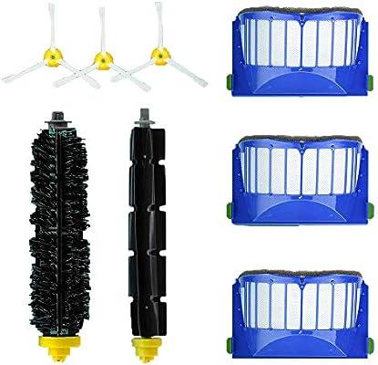 Accesorios de Repuesto para iRobot Roomba Serie 610 600 615 620 625 630 645 650 655 660 665 670 680 690-Kit de Accesorios de 8 Piezas (Cepillos laterales, filtros y etc) para iRobot Roomba Aspiradora: Amazon.es: Bricolaje y herramientas
