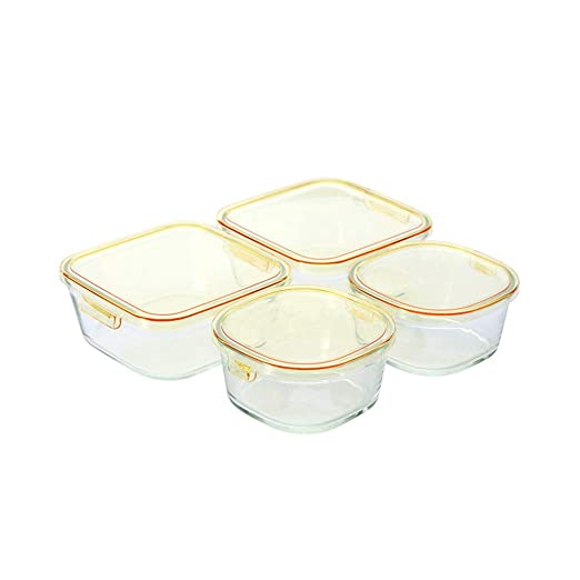 CZDZSWWW Cristal Caja de Almuerzo;Resistente al Calor Caja de ...