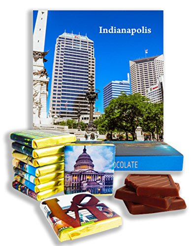 DA CHOCOLATE Candy Souvenir INDIANAPOLIS Chocolate Gift Set 5x5in 1 box (Day - Malls Indiana Indianapolis