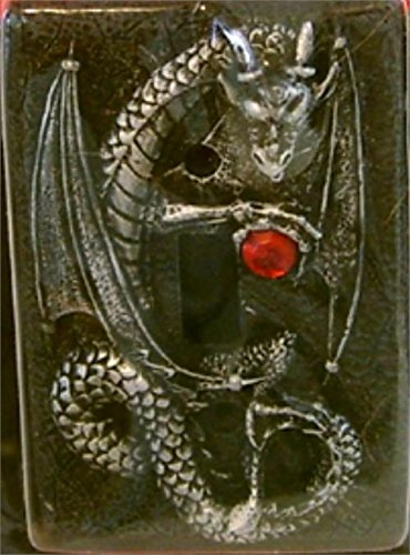 Jeweled Dragon Light Switch Cover Plate