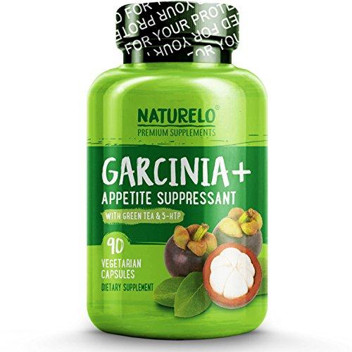 NATURELO Garcinia+ - with Garcinia Cambogia, Green Tea, Guarana, Forskolin, 5-HTP, Green Coffee Bean, Raspberry Ketones, White Kidney Bean Extract - 90 (Guarana Green Tea)