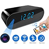 Camera Clock, Mini Security Camera Clock, 1080P Wireless WIFI Security Camera clock with Night Vision and Motion Detection, Wireless Camera for Home Security Surveillance with Free APP