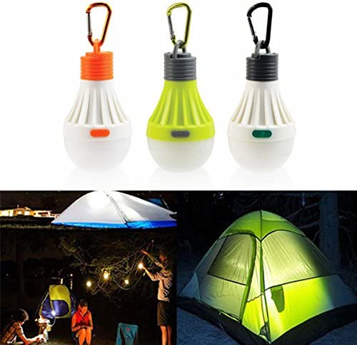 Mini LED Lantern Lamp Night Light Bulb for Outdoor Hanging Camping Tent 3 Modes