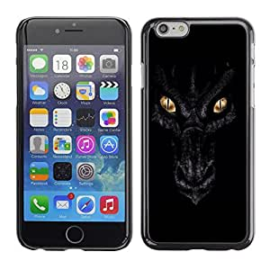 Design for Girls Plastic Cover Case FOR iPhone 6 Dragon Eyes Night Black Scales Gold OBBA