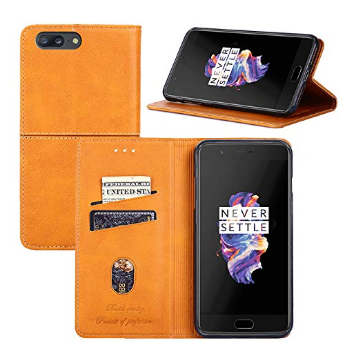 big sale 0e1ea bfb11 Amazon.com: OnePlus 5 Case,OnePlus 5 Wallet Case,Flip Cover Leather ...