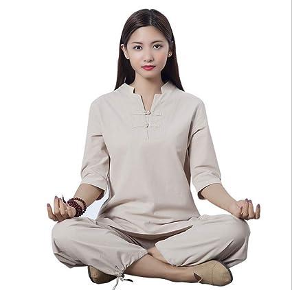 tai chi Clásico Ropa Mujer Kung Fu Traje Traje De Meditación ...
