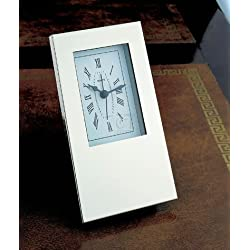 Creative Gifts Silhouette Alarm Clock in Nickel Plated