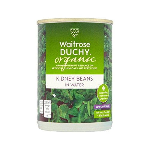 Duchy Waitrose Organic Kidney Beans in Water 400g - Pack of 4 by Duchy from Waitrose