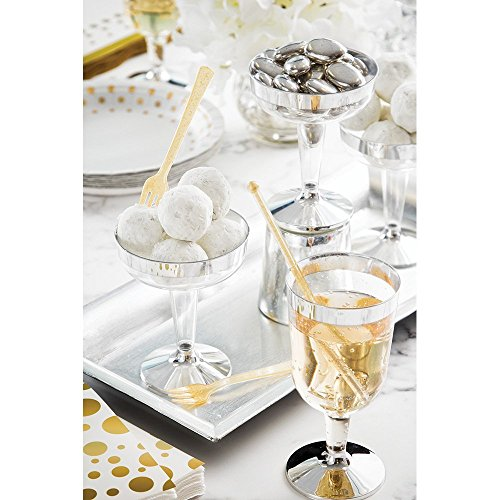 100 White Decorative Gold Dots Napkins