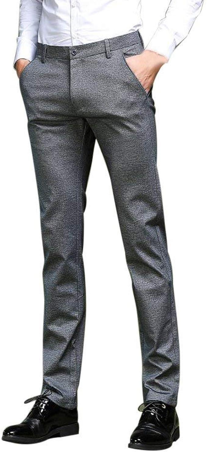 Amayay Pantalones para Hombres Traje Pantalones De Pantalones ...