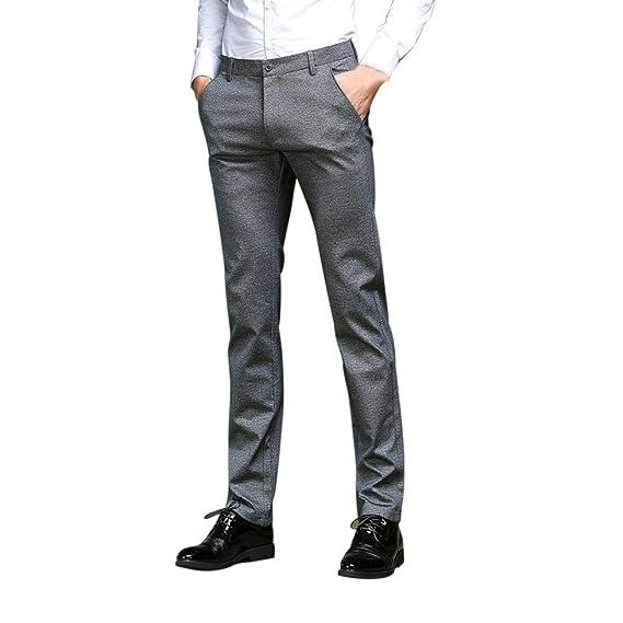 9bd1dee693a BIRAN Pantalons pour Hommes Pantalons De Costume Pantalons Pantalons Droits Chino  Pantalons Pantalon Único Coupe Slim