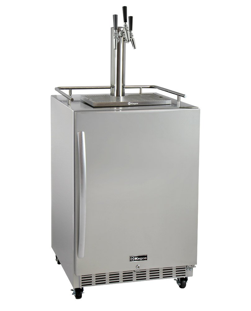 Kegco HK38SSC-3 3-Tap Commercial Outdoor Built-In Kegerator w/ Dispense Kit, 3 Faucet by Kegco (Image #1)