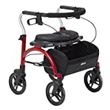 Drive Medical Arc Lite Rollator Walker, Red