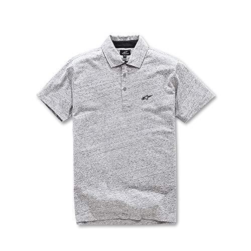 corta uomo Alpinestars cotone 100 Polo classico logo taglio petto grigio gommato manica Hd melange Eternal tessuto n7arStwn1q