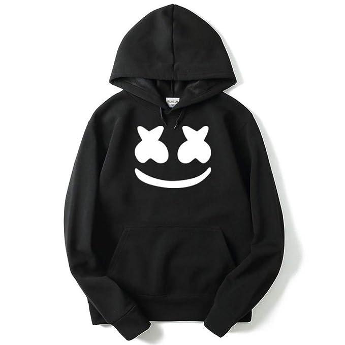 Paar Pullover Trendige Smiley-Pullover Mit Modedruck L/ässige Kapuzenjacke WEII Pullover