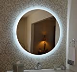 Wall Mounted Lighted Vanity Mirror LED MAM2D40 Commercial Grade 40'' Round