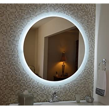 Amazon Com Lighted Vanity Mirror Wall Mounted Led Round