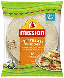 Mission Foods White Corn Tortilla 12 Pieces
