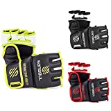 NEW ITEM Sanabul Essential MMA Grappling Gloves (Black/Green, Small/Medium)