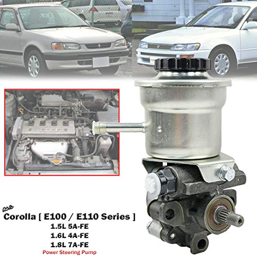 Power Steering Pump For Toyota Corolla AE101 AE102 AE111 1.6L 1.8L 4A-FE 7A-FE