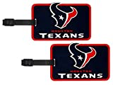 Houston Texans - NFL Soft Luggage Bag Tag - Set of 2