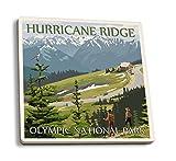 Olympic National Park, Washington - Hurricane Ridge (Set of 4 Ceramic Coasters - Cork-backed, Absorbent)
