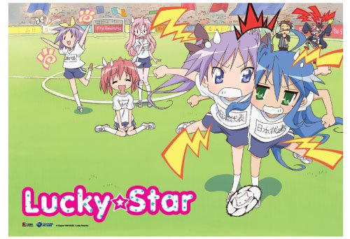 Great Eastern Entertainment Lucky Star Football Wall Scroll, 33 by 44-Inch