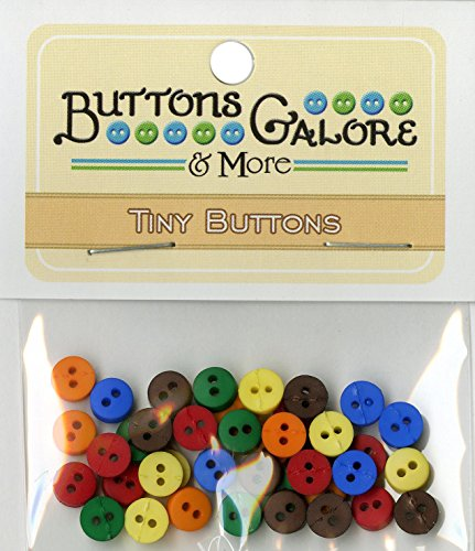 Gemstone Buttons (Buttons Galore Tiny Round Gemstone Buttons, 1/4