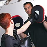 SUNMALL 2pcs MMA Boxing Mitts Focus Punch Pad PU