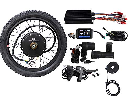 HALLOMOTOR 36V 48V 1500W 20″ 24″ 26″ 27.5″ 28″ 29er 700C Rear Wheel ebike Electric Bicycle Conversion Kits with 750C Colour Display