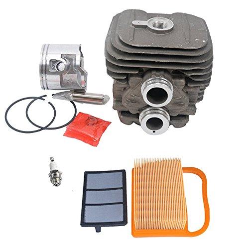 (SaferCCTV 50mm Cylinder Pot & Piston Assembly Kit Set with 4238 140 4401 Air filter for Stihl TS410 TS420 Replace 4238 020 1202, 4238 030 0400, 9503 003 0351, 9512 003 2344)