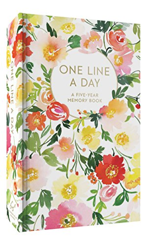 Floral One Line a Day: A Five-Year Memory Book (Blank Journal for Daily Reflections, 5 Year Diary Book) ()
