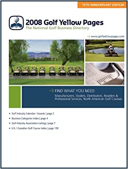 2008 Golf Yellow Pages: Golf Yellow Pages, David Wogahn