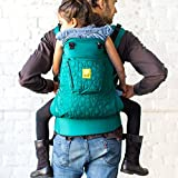 Cheap LÍLLÉbaby 3 in 1 CarryOn All Seasons Toddler Carrier, Embossed Emerald – Multi-Position Ergonomic Baby Carrier for Toddlers
