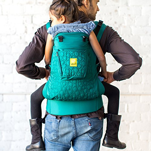 LÍLLÉbaby 3 in 1 CarryOn All Seasons Toddler Carrier, Embossed Emerald - Multi-Position Ergonomic Baby Carrier for Toddlers