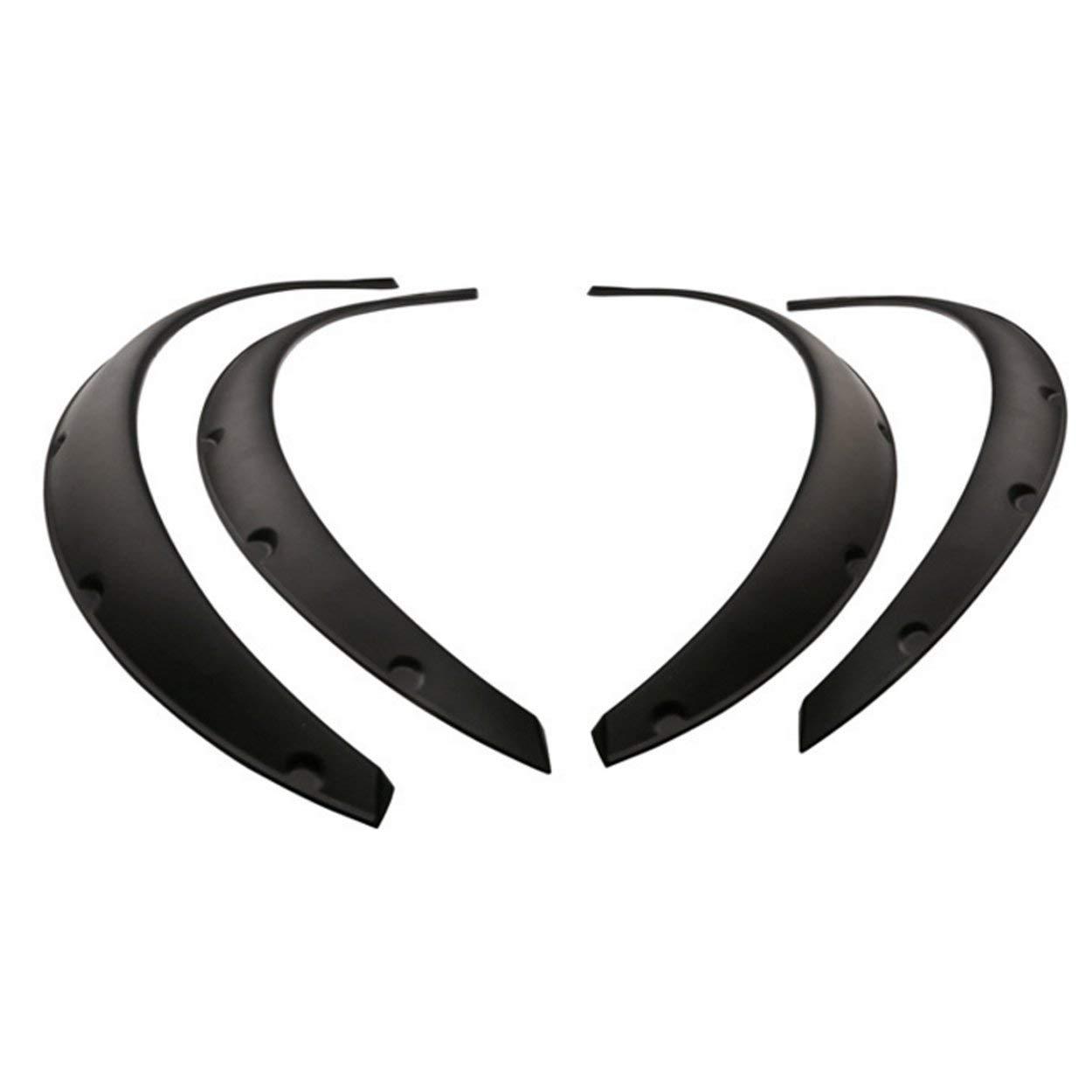 4Pcs Universal Flexible Car Fender Flares Extra Wide Body Wheel Arches Wheel Eyebrow Protector Lip Sticker Trim CNluca