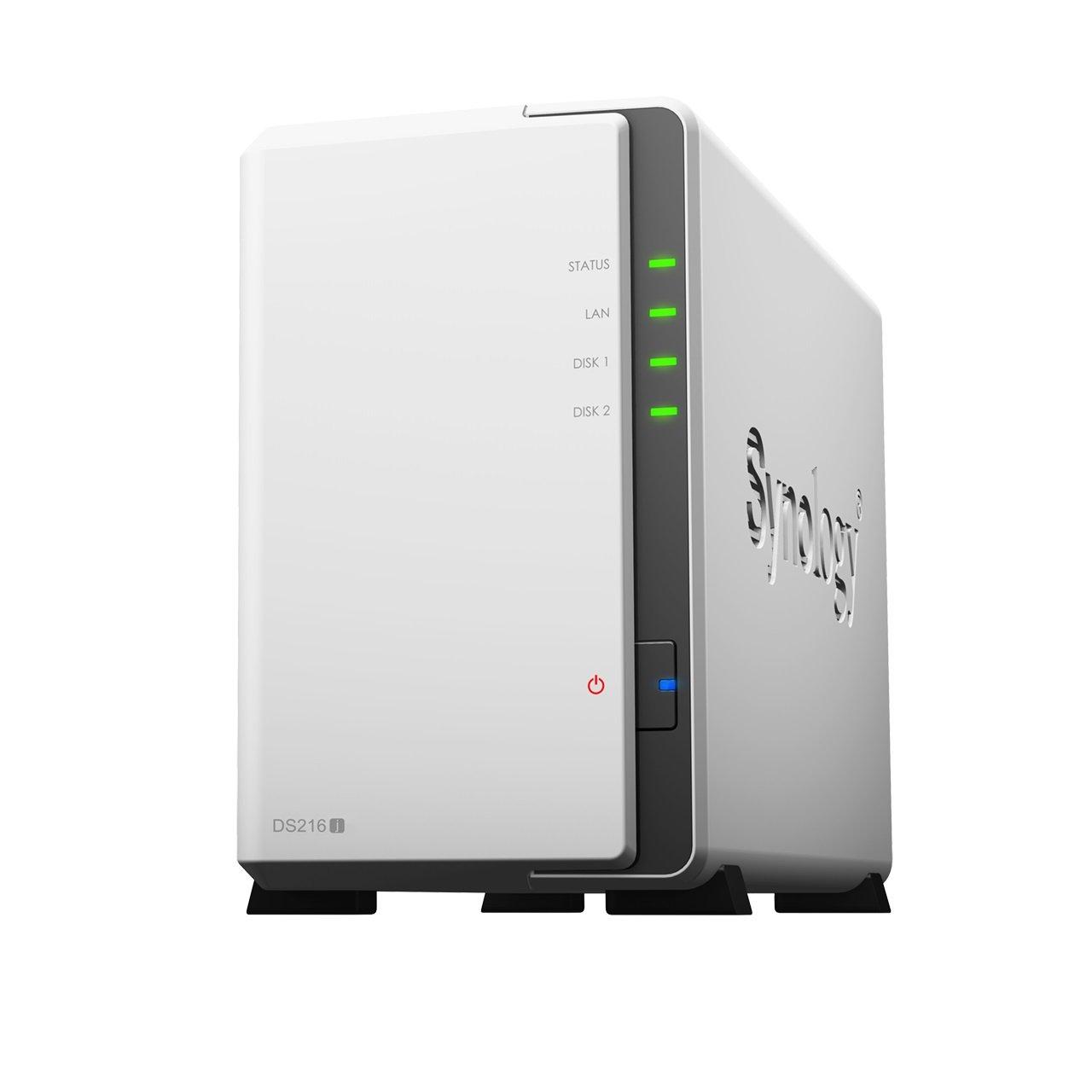 Synology DS216j 4TB 2 x 2To WD RED 2 Bay Bureau Unit/é NAS