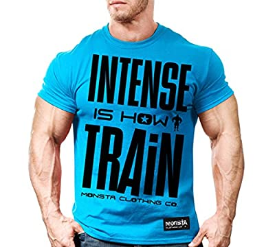 Monsta Clothing Co. Men's Intense is how I Train (TEE133) T-shirt