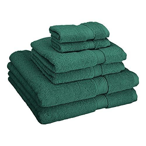 - Superior Luxury Cotton Bath Towel Set - 6 Piece Towel Set, 900 GSM, Long-Staple Combed Cotton Towels, Teal