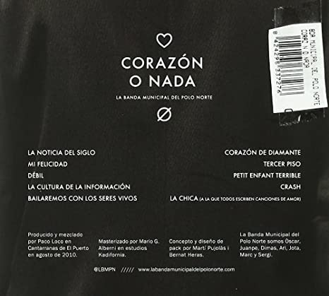 Corazón O Nada: Banda Municipal Polo Norte: Amazon.es: Música