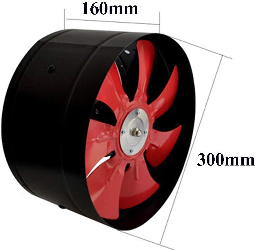 MEILINL Abluftventilator Axial Ventilator Gebl/äse L/üfter Wandgebl/äse Wandl/üfter Fensterl/üfter Luftvolumen 3000 M/³//H Leistung 120W /Öffnungsdurchmesser 300 Mm 12